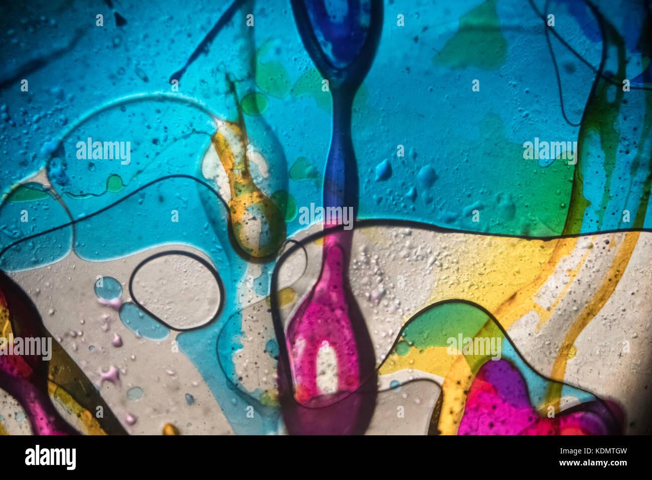 Öl rad Projektion Abstracts Stockbild