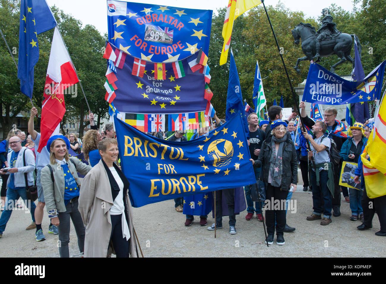 Bristol, UK, 14. Oktober 2017. Julie girling, konservative Europaabgeordnete für South West und Gibraltar pro Stockbild