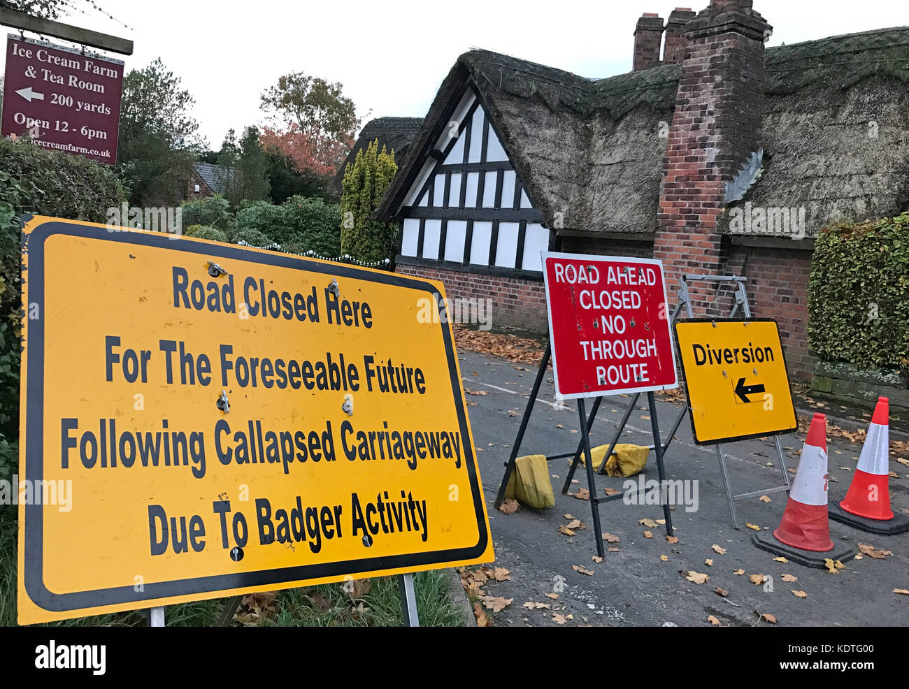 road,closed,due,to,Damage,tunnel,Cheshire,Village,GoTonySmith,Cheshire