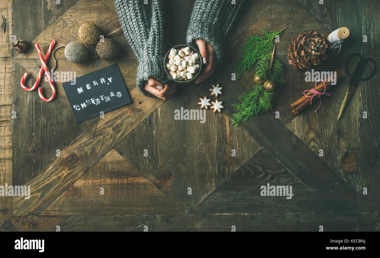 Weihnachten oder Neujahr Hintergrund Kopie Raum Stockbild