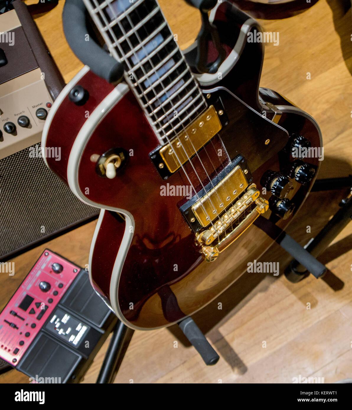 Gibson Gitarre, Les Paul Stockbild
