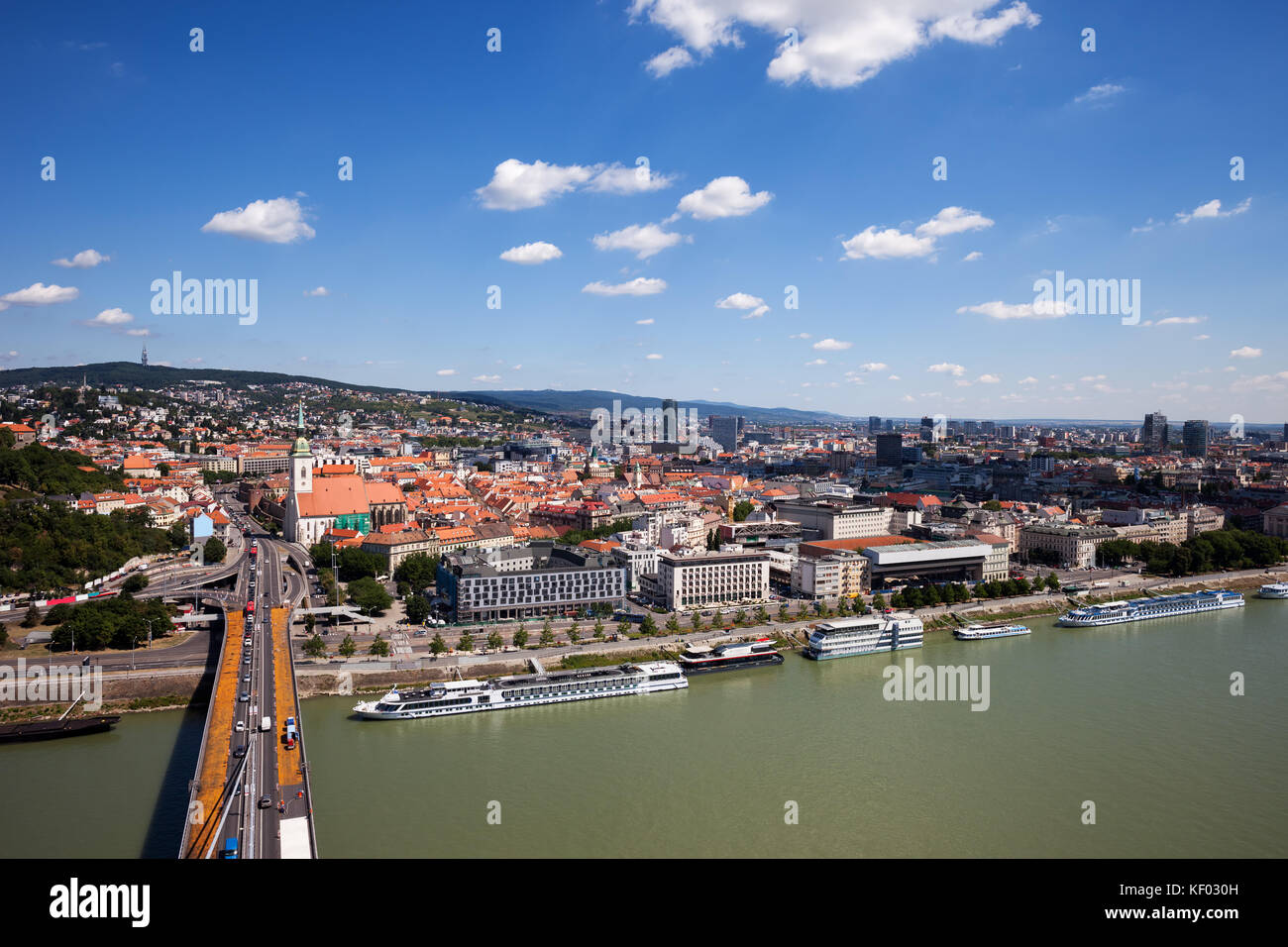 aerial view of the danube river stockfotos aerial view of the danube river bilder alamy. Black Bedroom Furniture Sets. Home Design Ideas