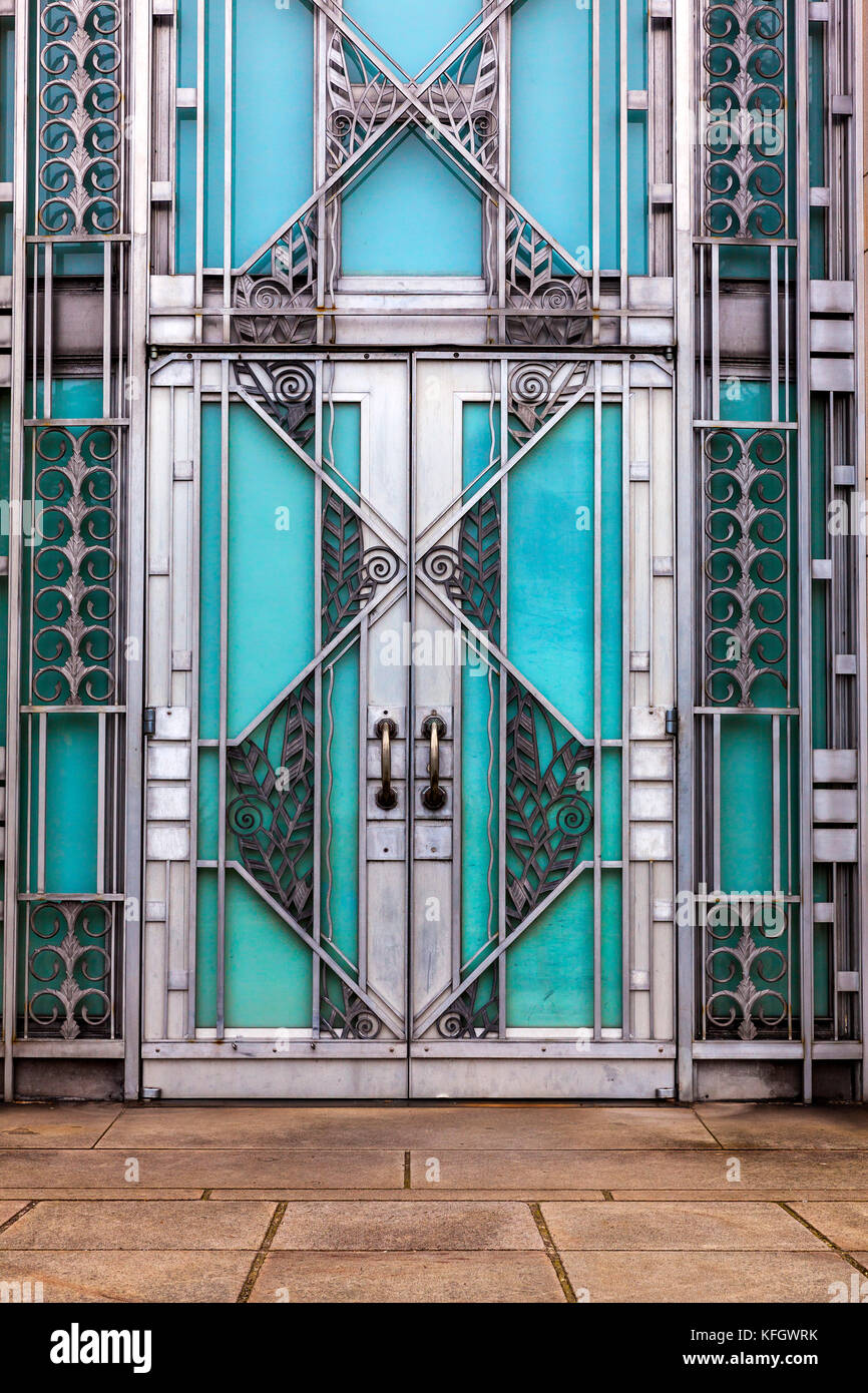 WA 14016-00 ... WASHINGTON - die Tür an der Asin Museum in Volenteer Park, Seattle. Stockbild