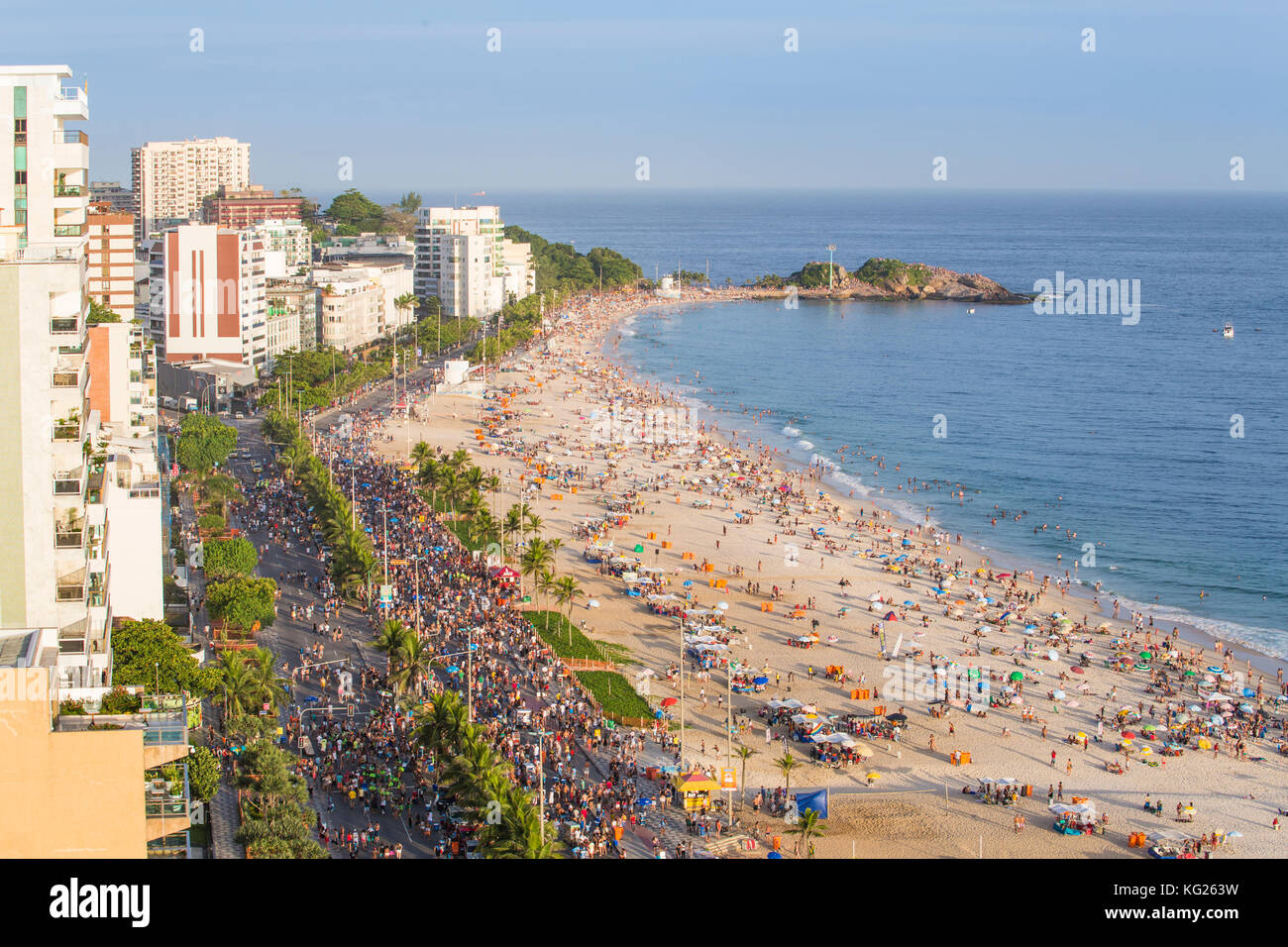 Ipanema Beach, street Karneval, Rio de Janeiro, Brasilien, Südamerika Stockbild