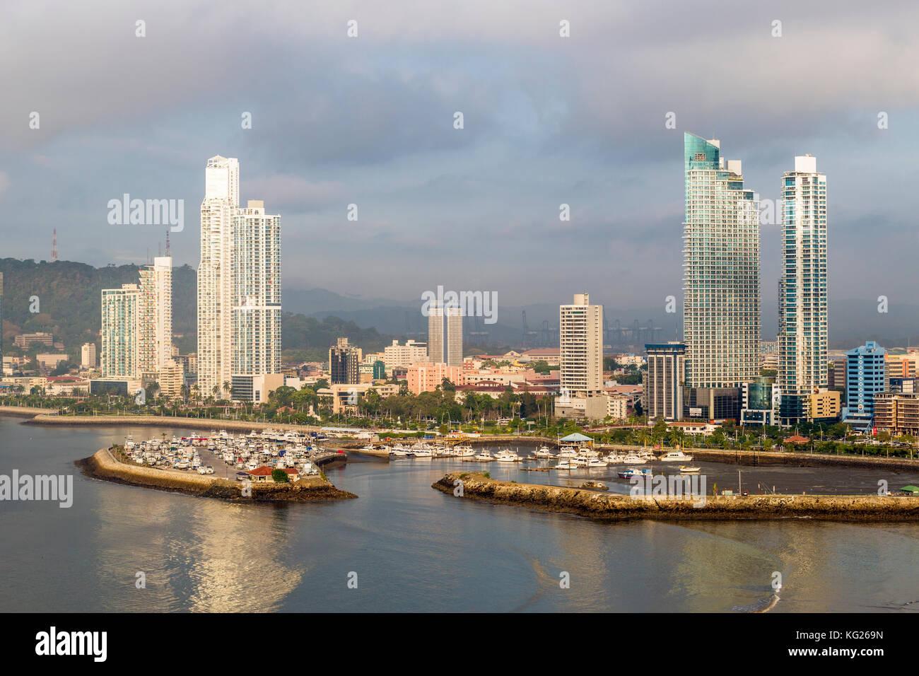 Apartment Towers, Panama City, Panama, Mittelamerika Stockbild