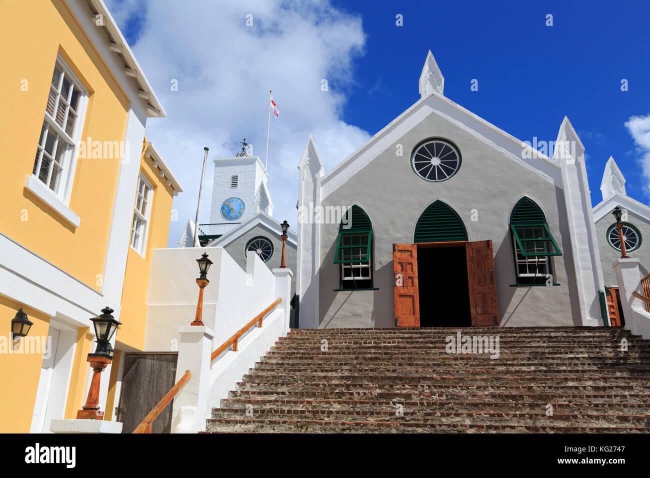 St.Peter Kirche, Stadt st. georg, St George's Parish, Bermuda, Mittelamerika Stockbild