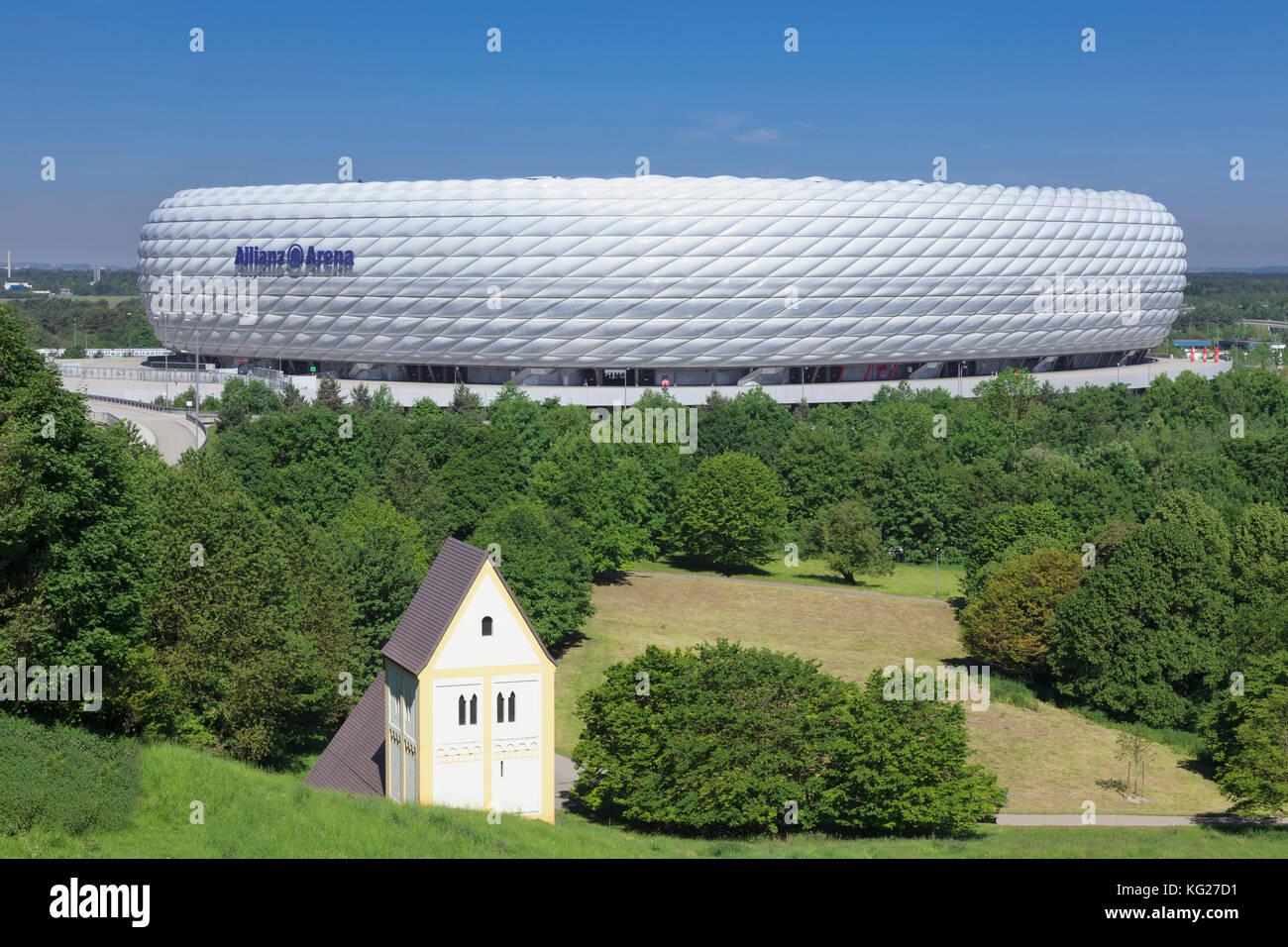 Allianz Arena, Fussball, Stadion, München, Bayern, Deutschland, Europa Stockbild
