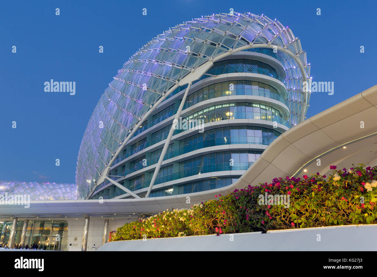 Yas Marina Hotel, Yas Island, Abu Dhabi, Vereinigte Arabische Emirate, Naher Osten Stockbild