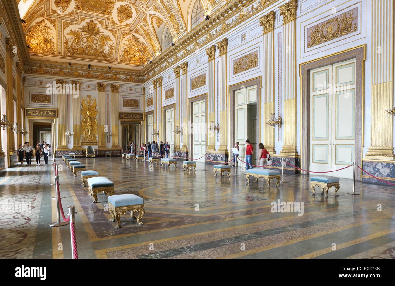 Salon, Reggia di Caserta, Neapel, Kampanien, Italien, Europa Stockbild