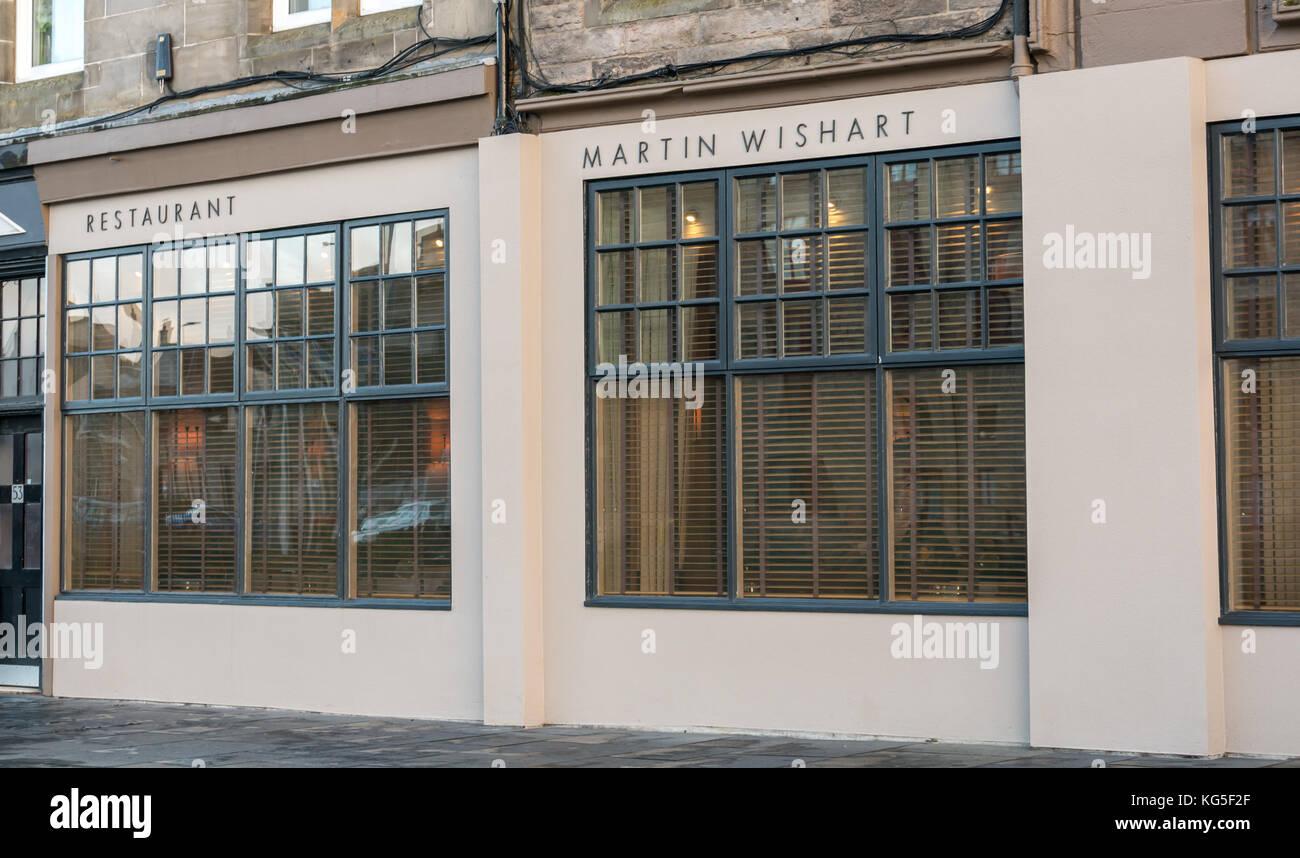 Die vordere von Martin Wishart, ein feines Michelin Restaurant am Ufer in Leith, Schottland, Großbritannien Stockbild