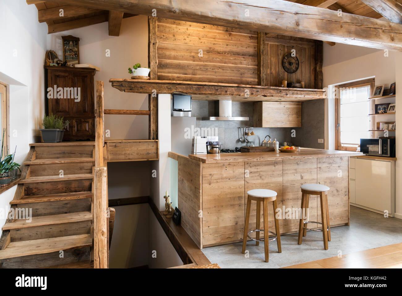 Amüsant Küchen Aus Holz Landhausstil Ideen Von Küche Im