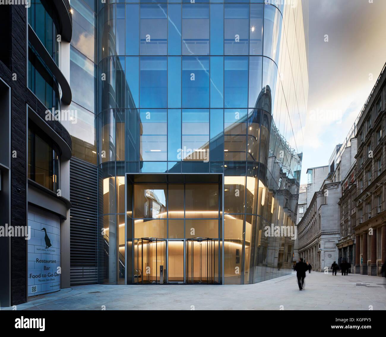 Ansicht von der Straße. Engel, London, Großbritannien Architekt: Fletcher Priester Architekten llp, 2017. Stockbild