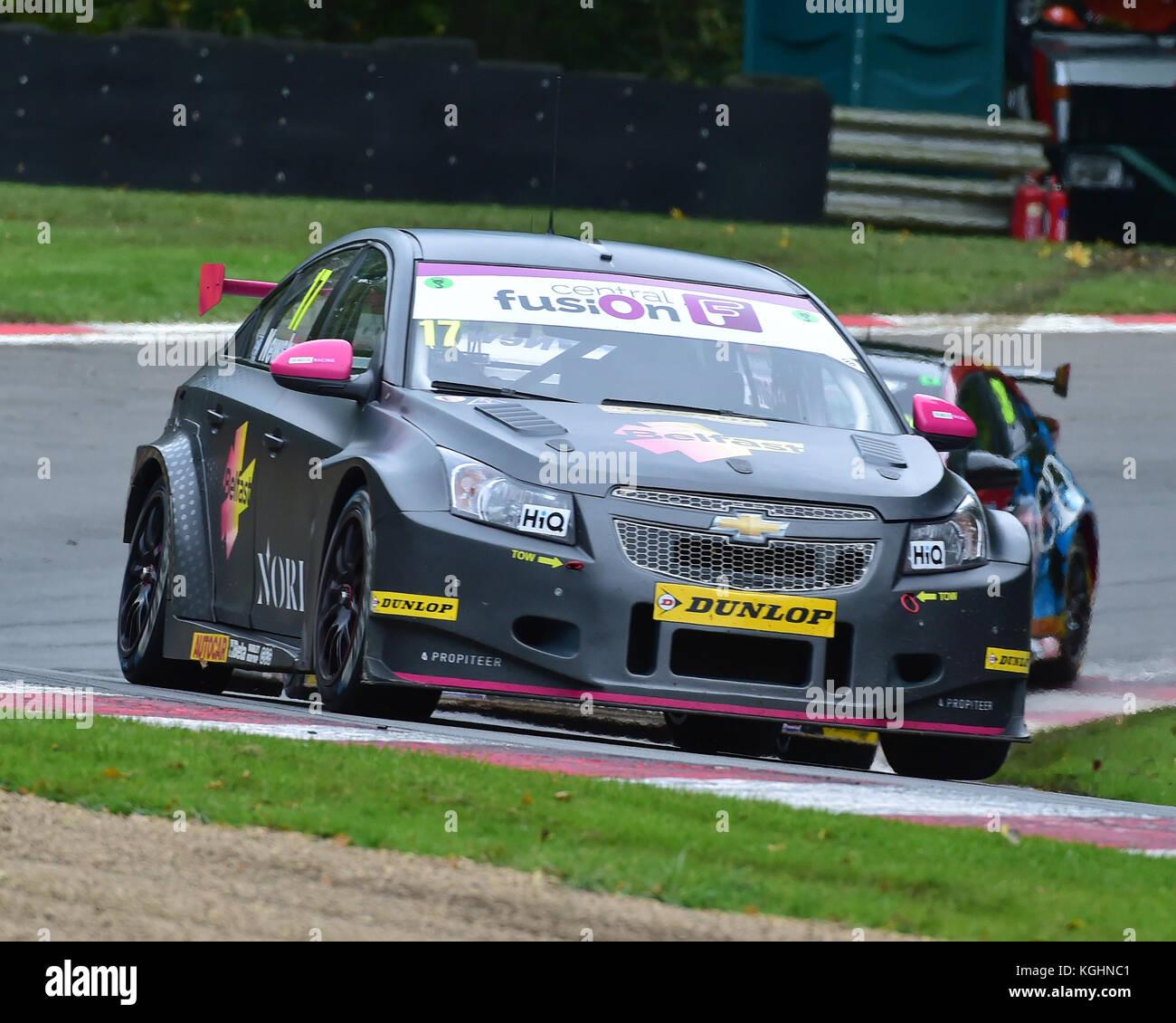 Dave newsham, Chevrolet Cruze, btcc Meisterschaft, btcc Brands Hatch, Sonntag, 1. Oktober 2017, Autosport, British Stockbild