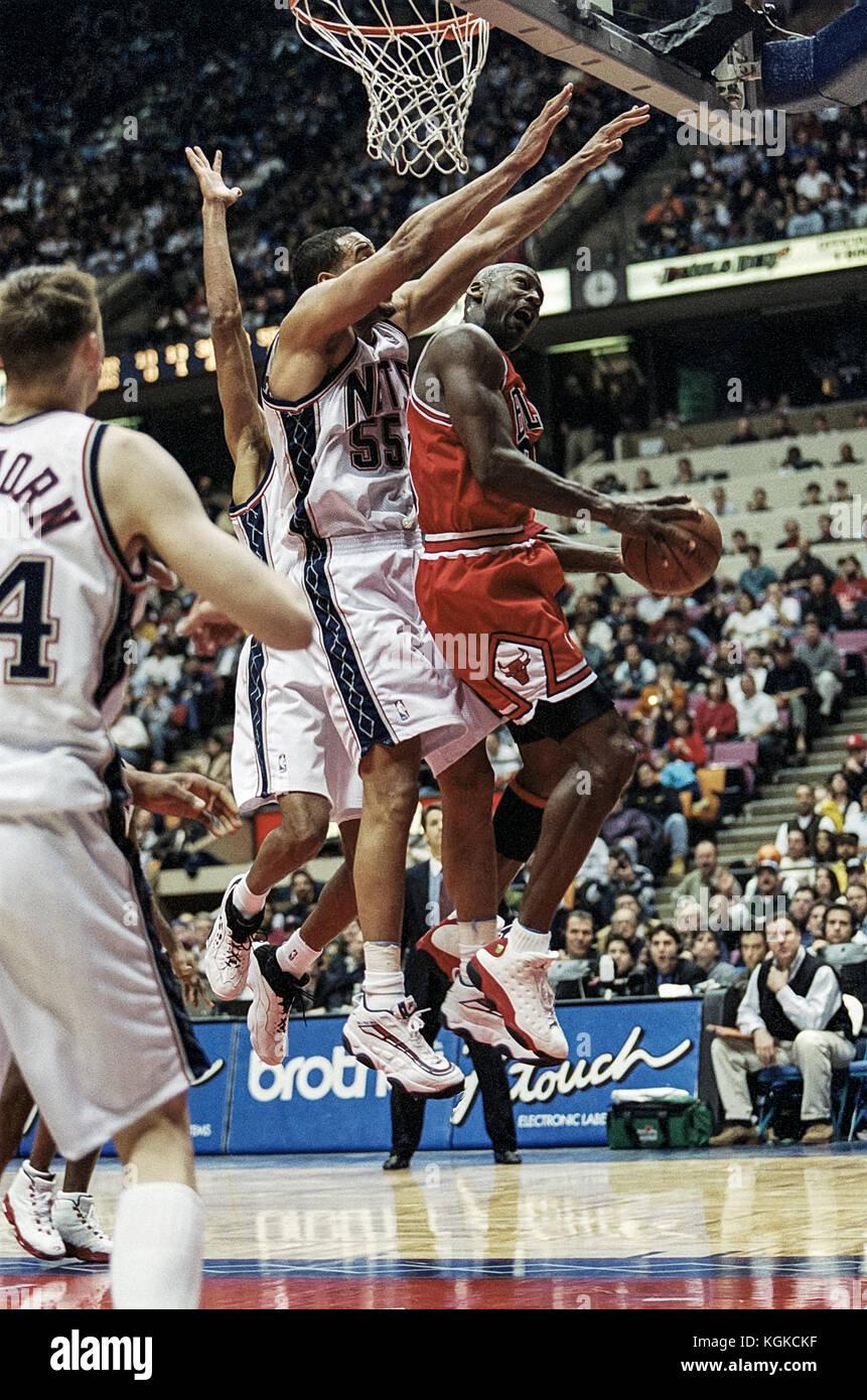 Michael Jordan für die nba Chicago Bulls. Stockbild