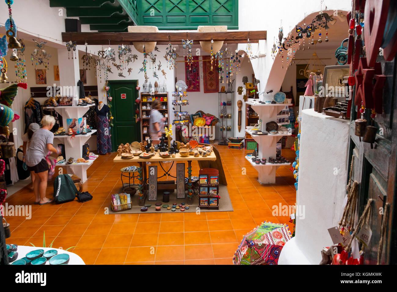 Straße Markt in Teguise, Lanzarote, Kanarische Inseln, Spanien Europa Stockbild