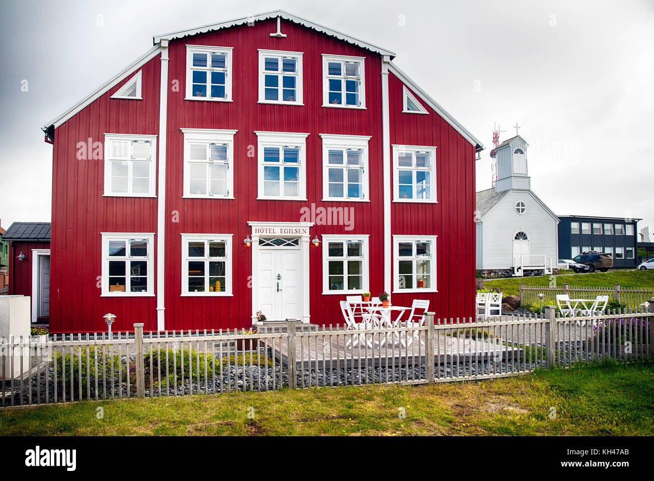 Country Inn, Pori, Island Stockbild