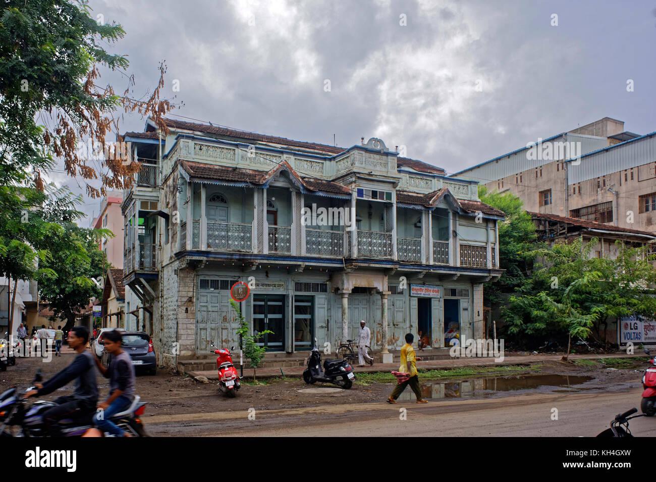 Haus am Sangli, Maharashtra, Indien, Asien Stockbild