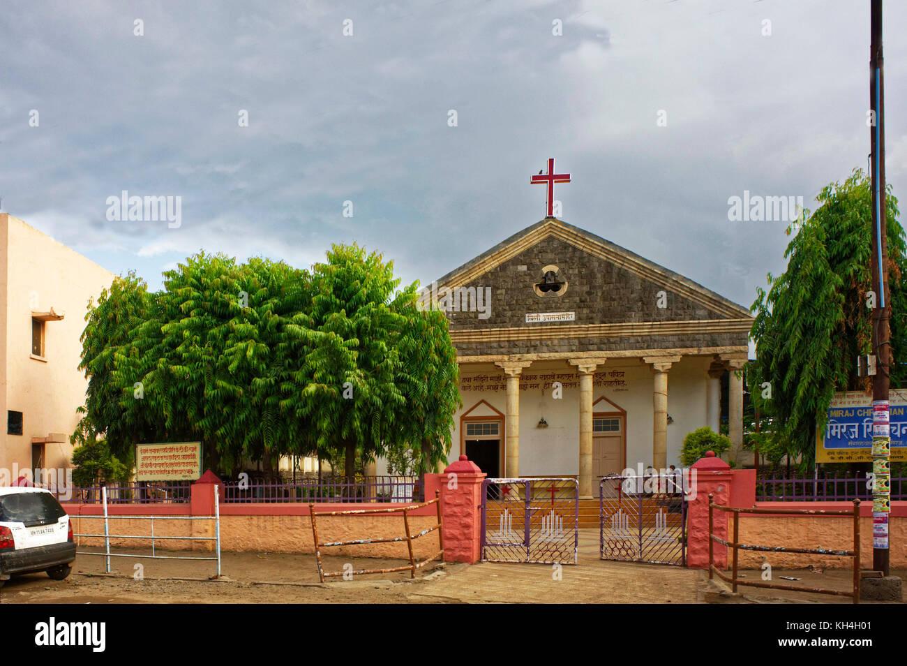 Kirche in miraj, Maharashtra, Indien, Asien Stockbild