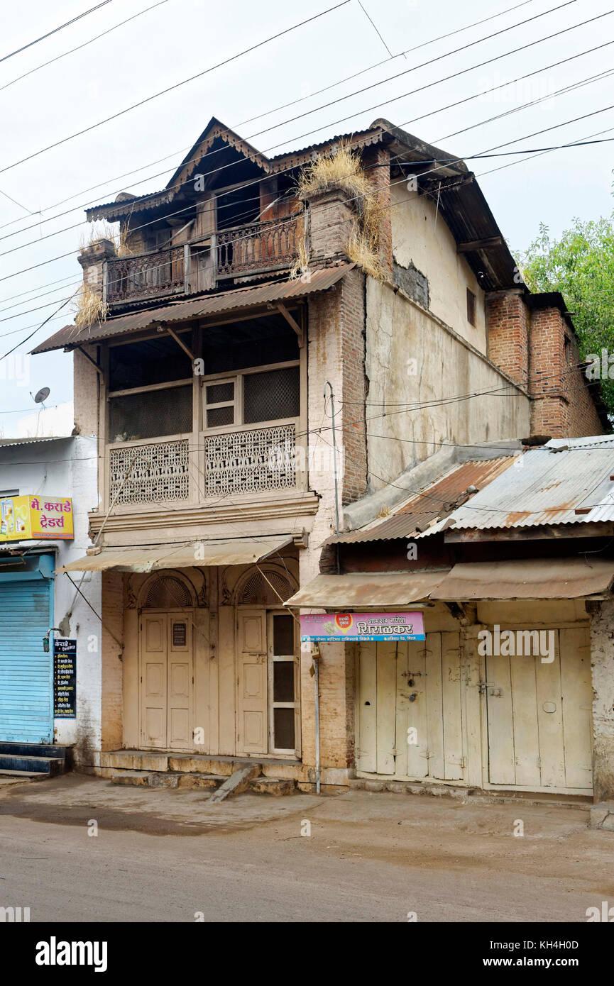 Haus, miraj, Maharashtra, Indien, Asien Stockbild