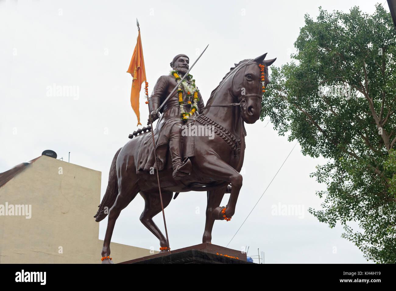 Shivaji Maharaj Statuen, miraj, Maharashtra, Indien, Asien Stockbild