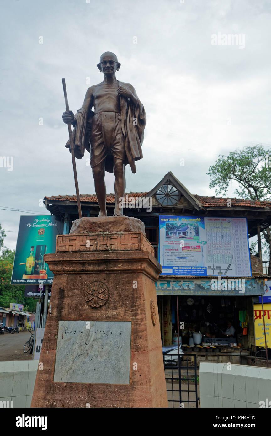 Mahatma Gandhi Statue, miraj, Maharashtra, Indien, Asien Stockbild