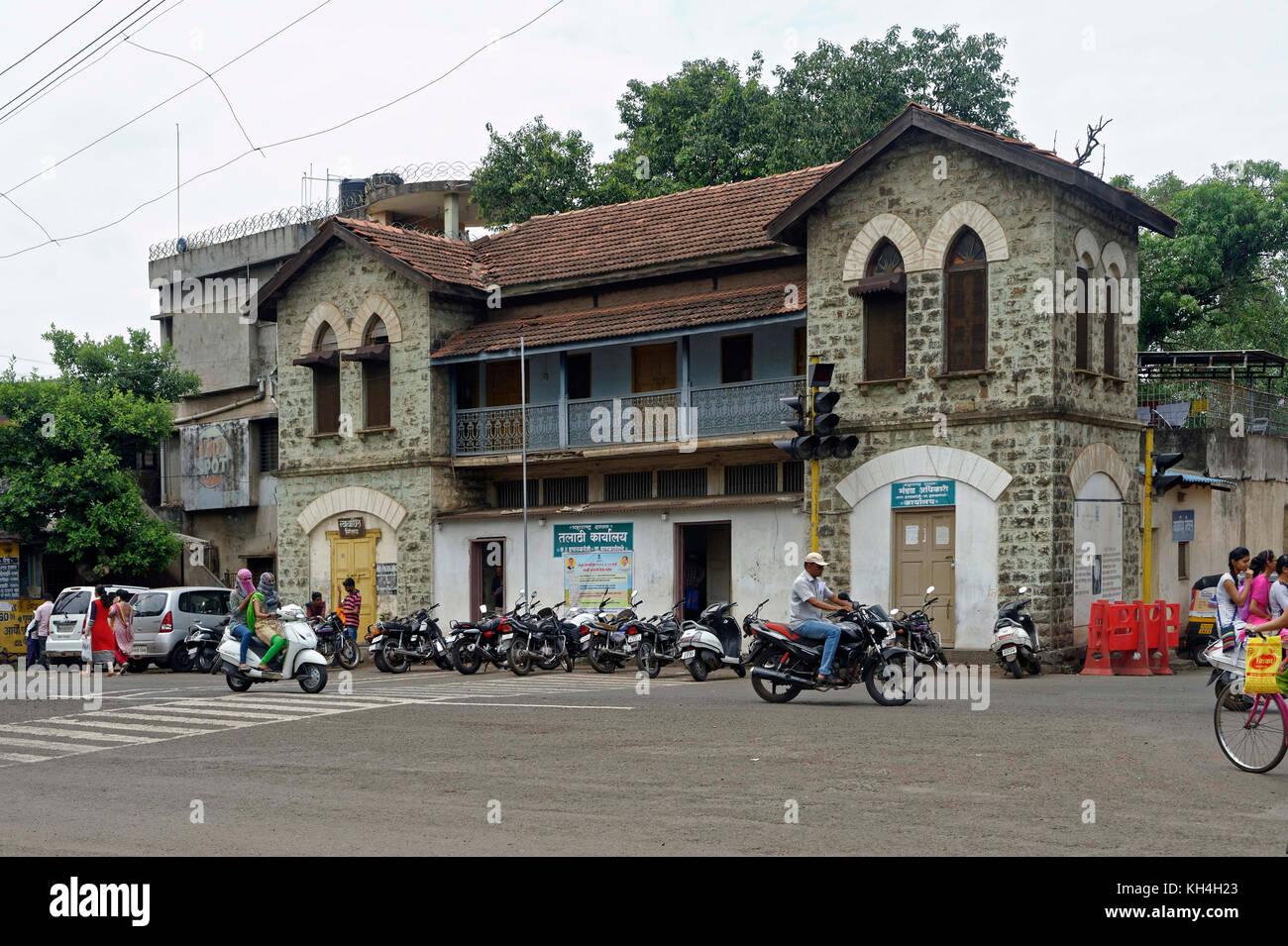 Talathi karyalay Bürogebäude, Kolhapur, Maharashtra, Indien, Asien Stockbild
