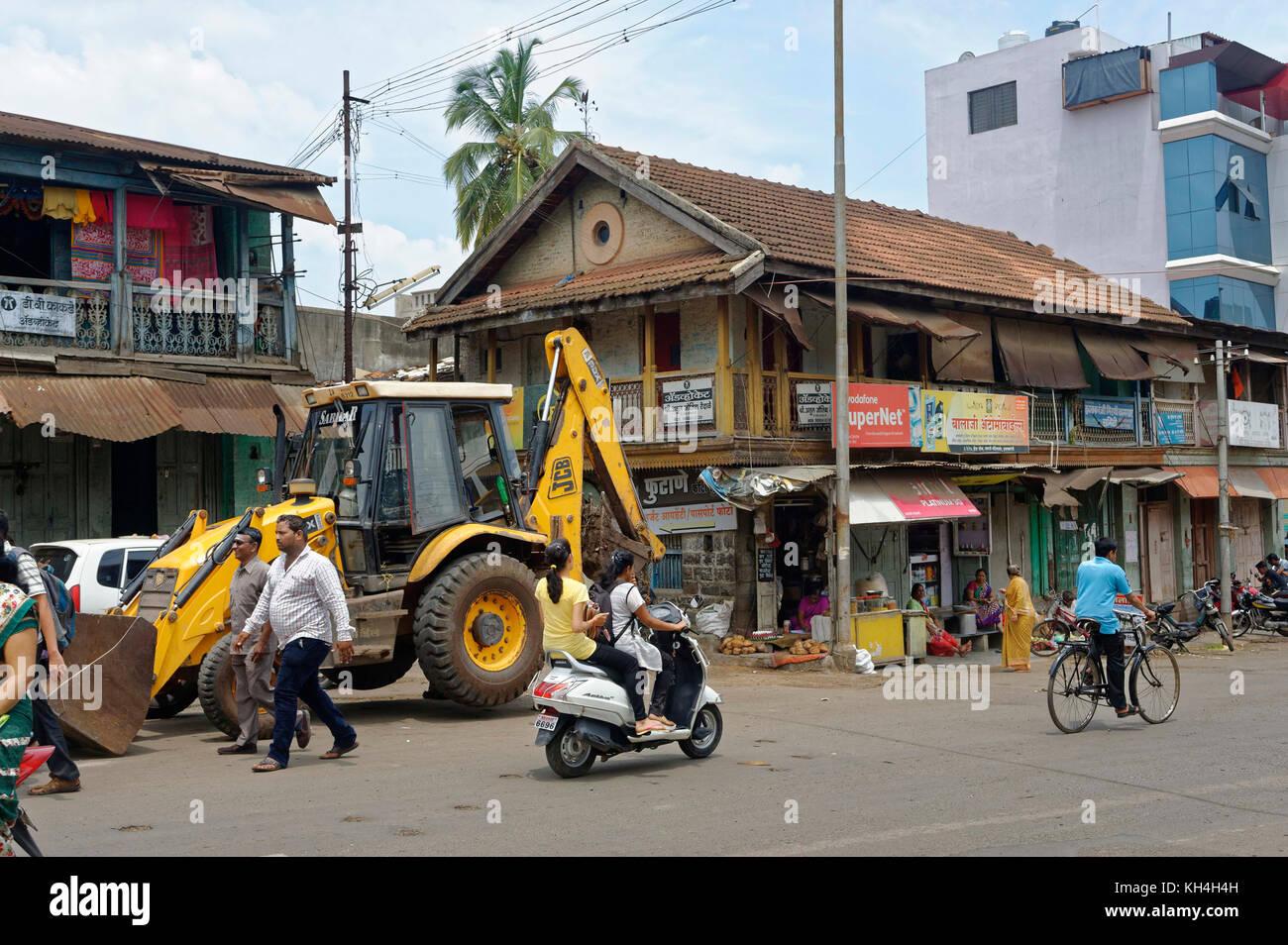 Gebäude, Kolhapur, Maharashtra, Indien, Asien Stockbild