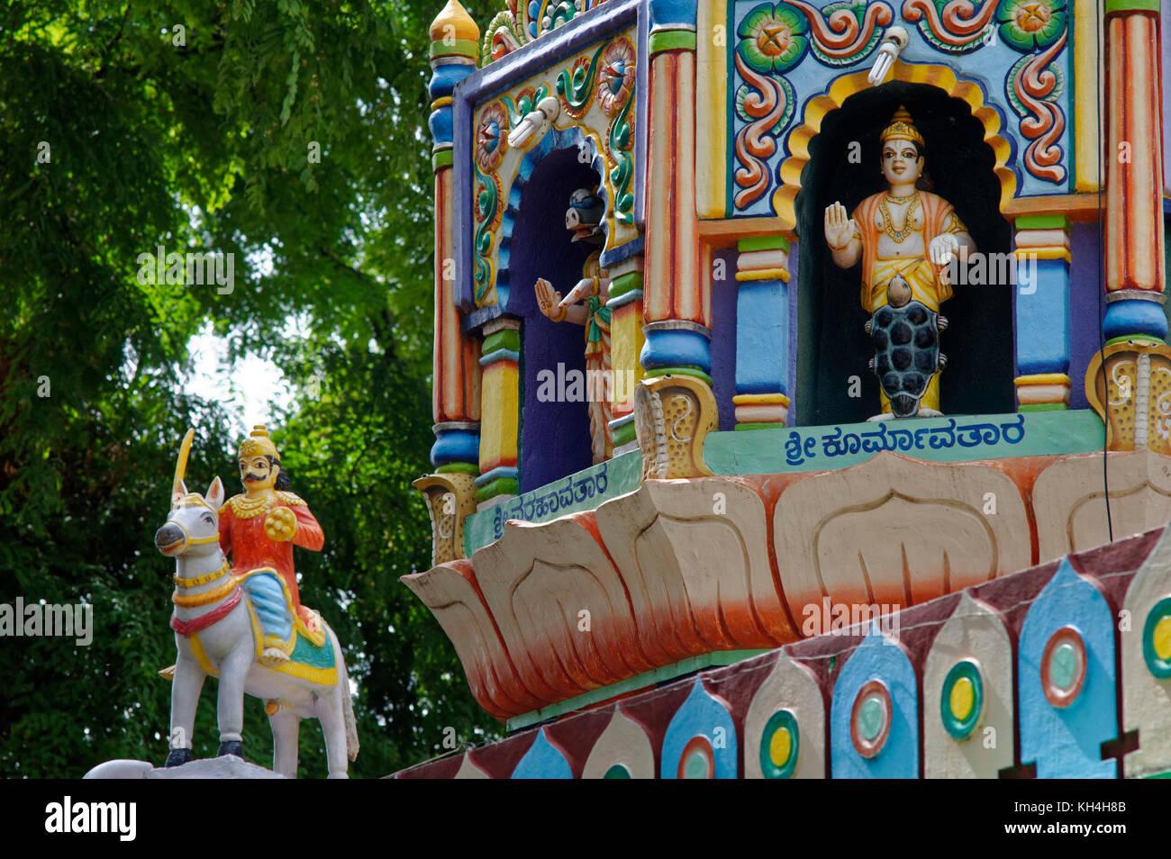 Anjaneya Tempel, belagavi, Karnataka, Indien, Asien Stockbild