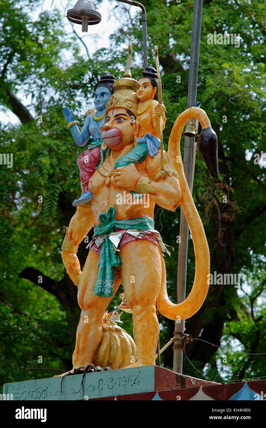 Hanuman Statue, anjaneya Tempel, belagavi, Karnataka, Indien, Asien Stockbild