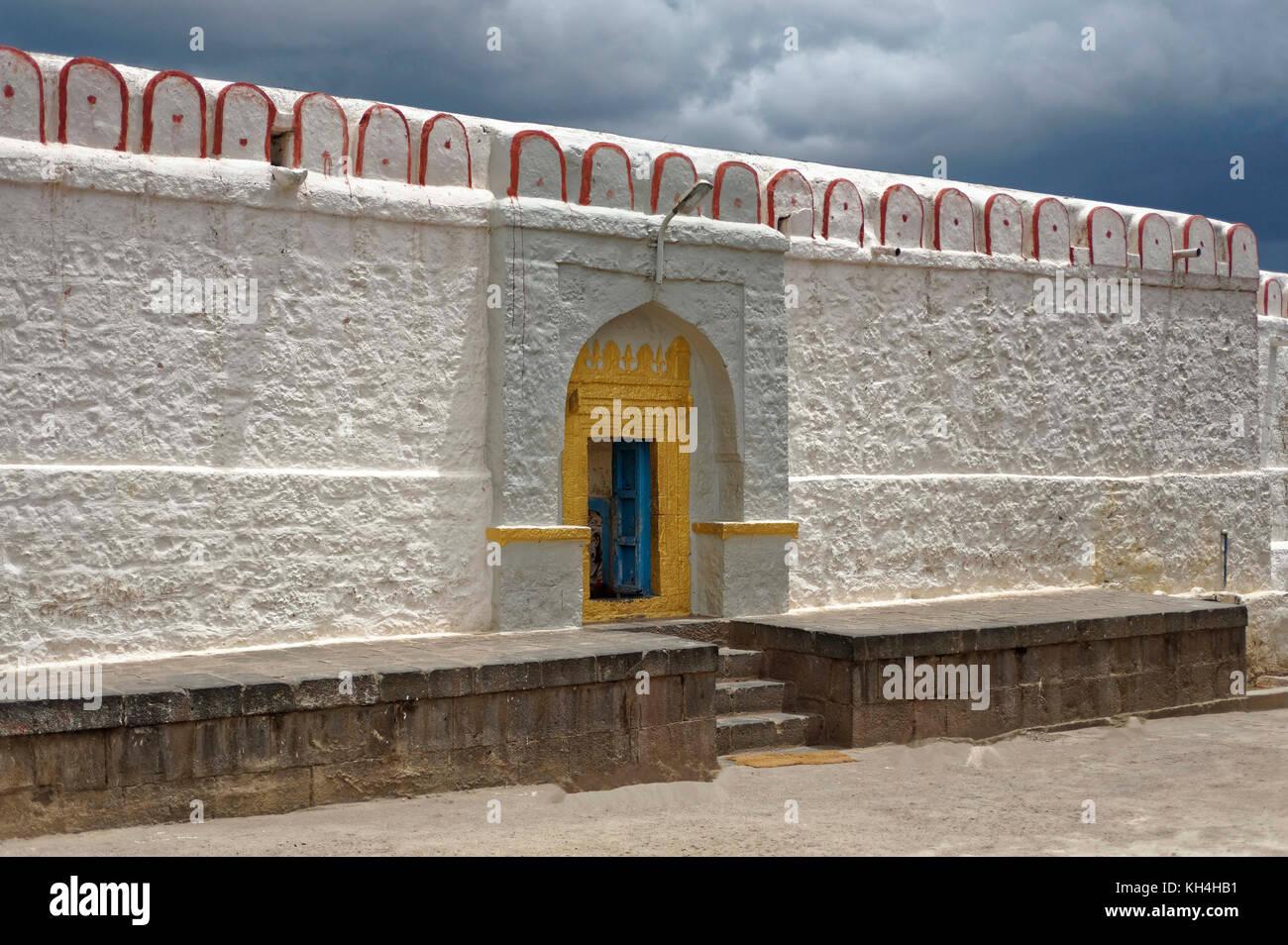 Eingang des bhramnath Mandir, Jain Ashram, kagwad, belagavi, Karnataka, Indien, Asien Stockbild