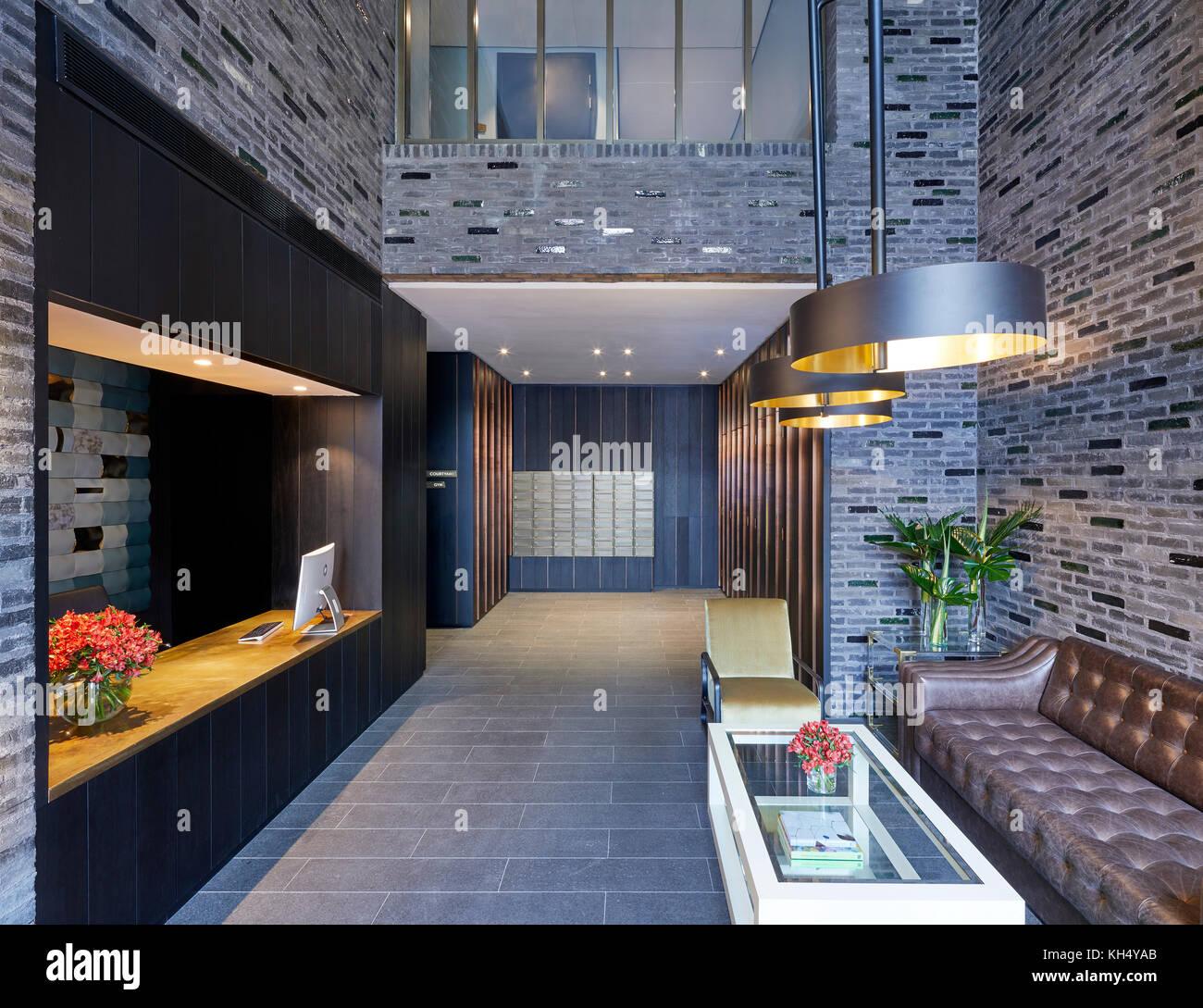 Innenraum Rezeption anzeigen. 55 Victoria Street, London, Großbritannien Architekt: steif+trevillion Architekten, Stockbild