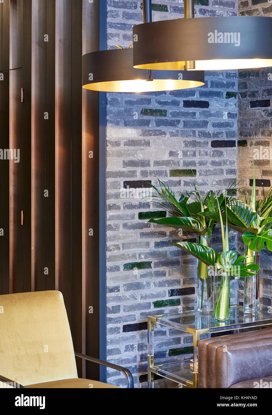 Detail Aufnahme der Rezeption. 55 Victoria Street, London, Großbritannien Architekt: steif+trevillion Architekten, Stockbild