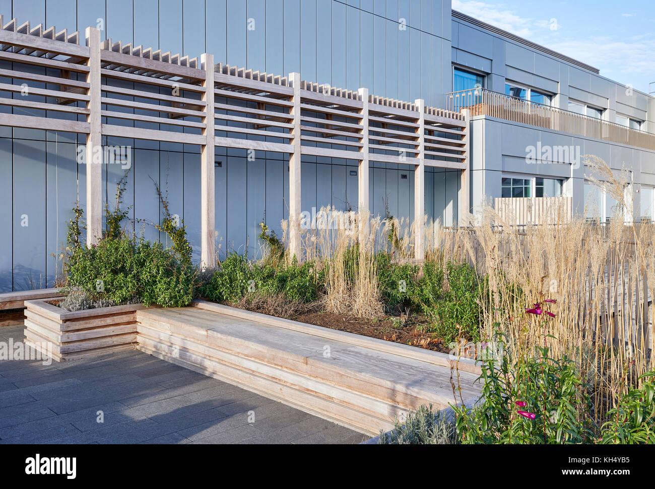 Garten geschmückt. 55 Victoria Street, London, Großbritannien Architekt: steif+trevillion Architekten, Stockbild