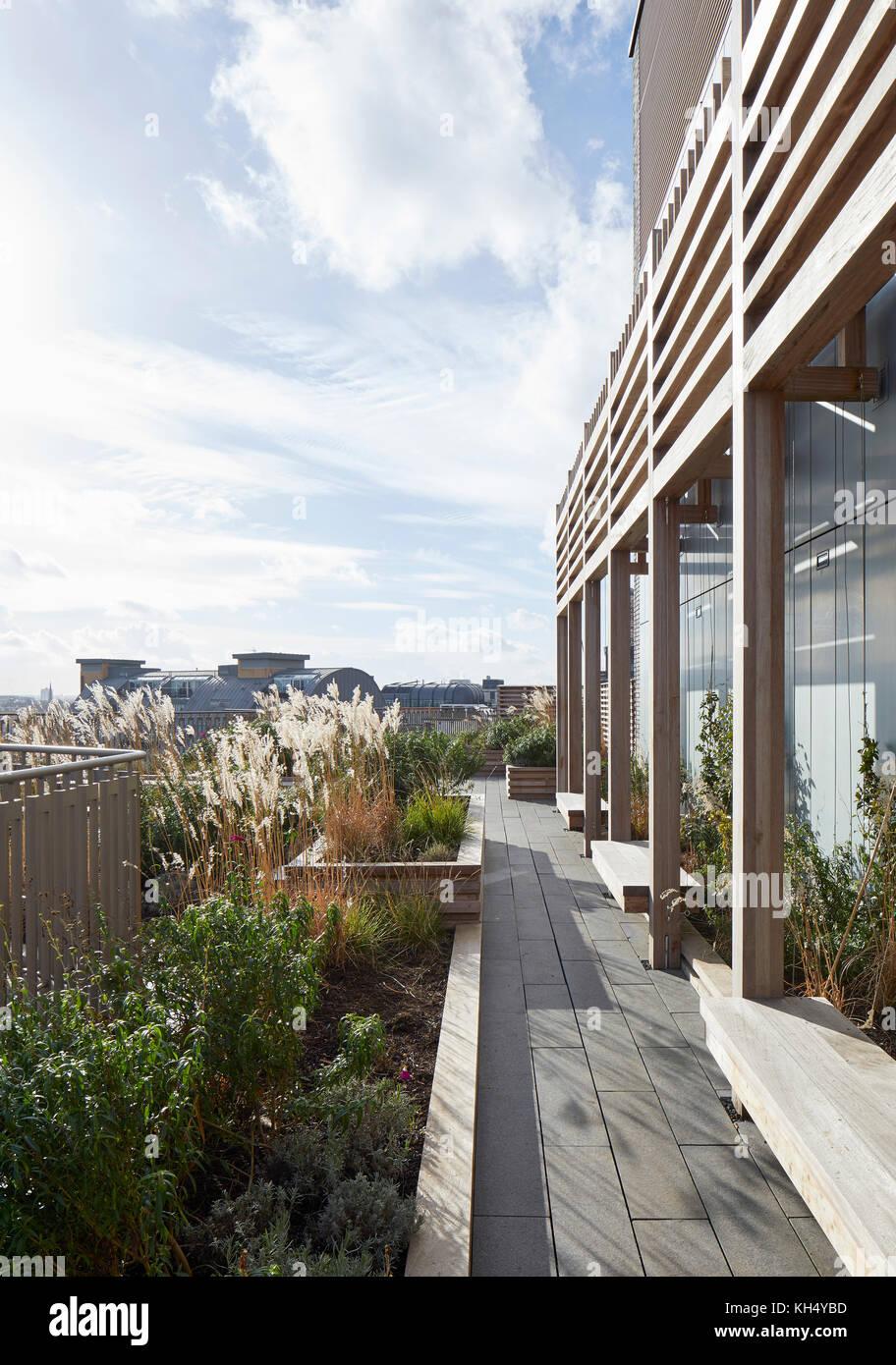 Außenansicht von geschmückten Garten. 55 Victoria Street, London, Großbritannien Architekt: steif+trevillion Stockbild