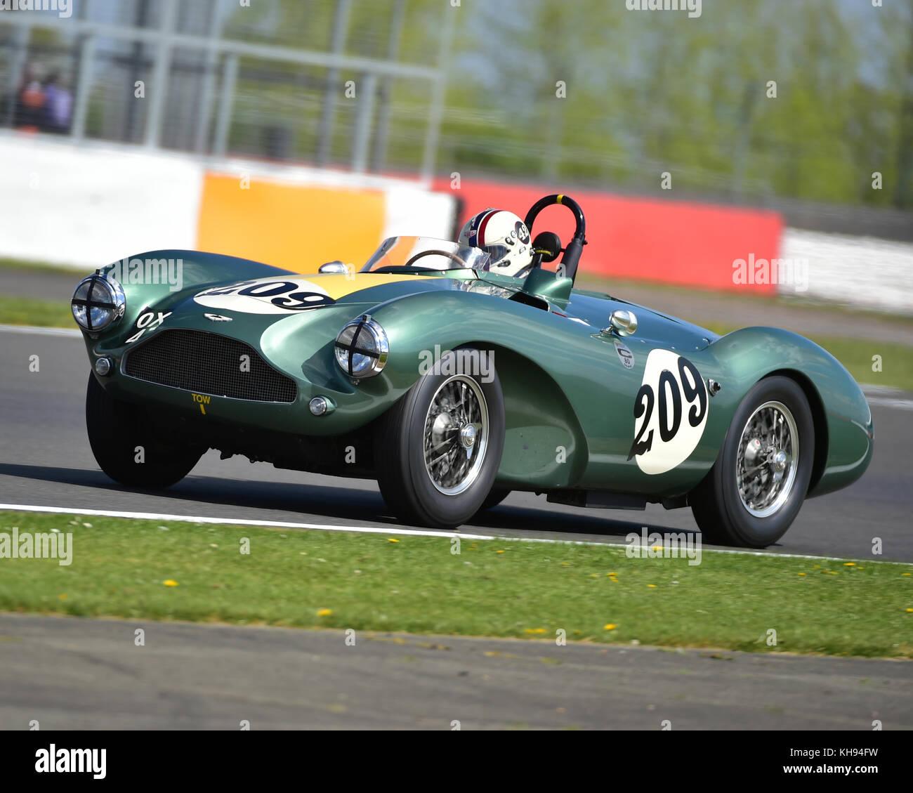 Steven boultbee - Brooks, Aston Martin DB 3 s, fiscar, Tom Cole Trophäe, vscc, Formel vintage, Runde 1, Silverstone, Stockbild