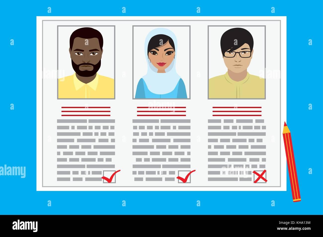 Curriculum vitae Rekrutierung Kandidat Job Position. Konzept des Job ...