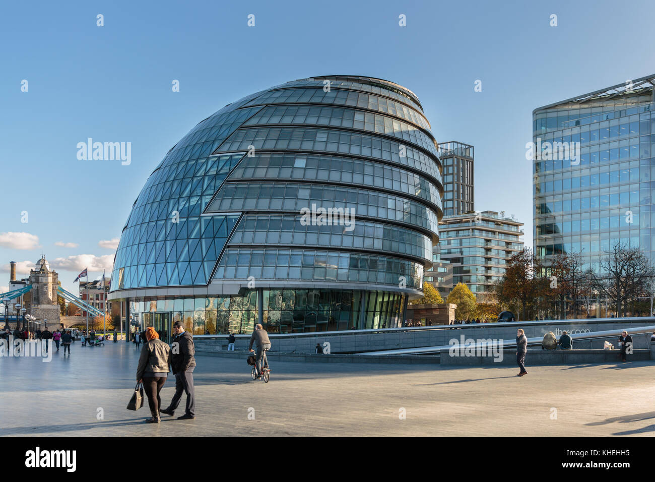 Rathaus, Sitz der Greater London Authority (GLA), der Bürgermeister von London und der London Assembly, Southwark, Stockbild