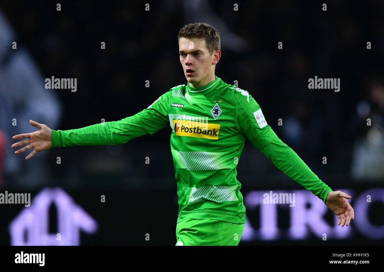 Berlin, Deutschland. 18 Nov, 2017.moenchengladbach Matthias ginter während der deutschen Bundesliga Fußball Stockbild