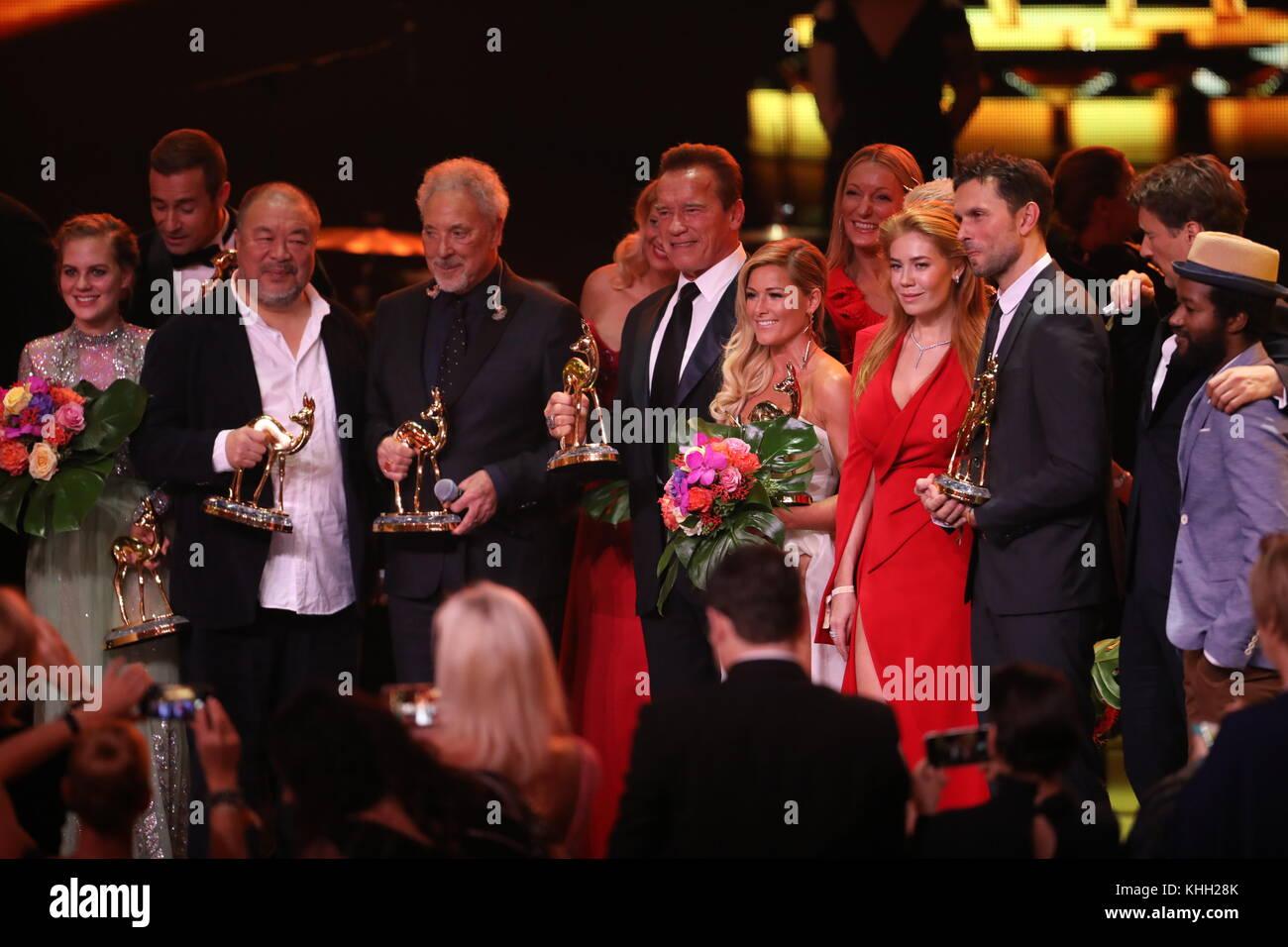Die Preisträger, die schauspielerin Alicia von rittberg (Schauspielerin national), Moderator Kai Pflaume (Moderator), Stockbild