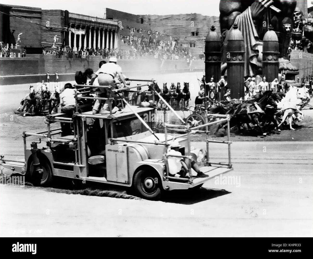Ben-hur 1959 mgm film-shooting das Wagenrennen in Rom dauerte drei Monate. Stockbild