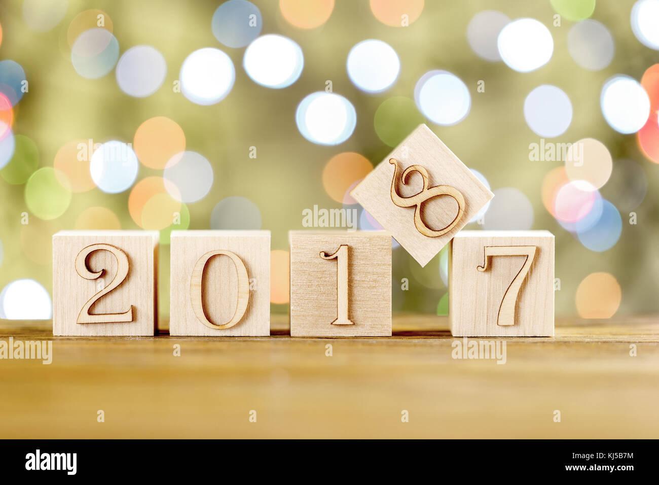 Herzlichen Glückwunsch zum neuen Jahr. Das neue Jahr 2018 ...