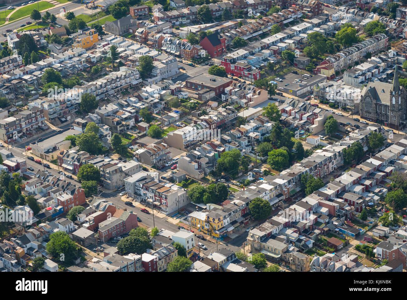 Luftaufnahme der Stadt Nachbarschaft Stockbild