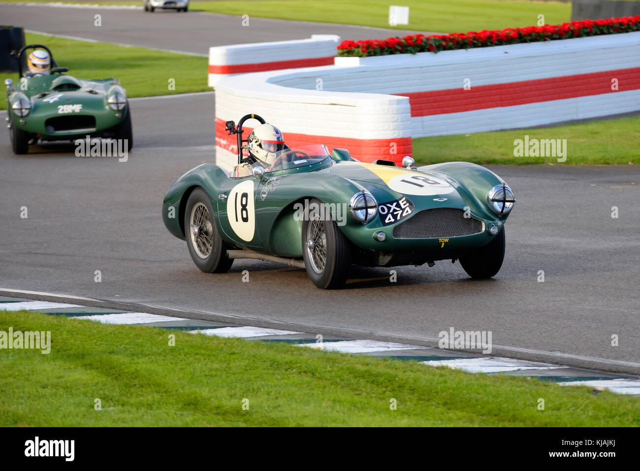 1955 Aston Martin DB 3 s im Besitz und unter der Leitung von Steve boultbee Brooks racing in der Freddie März Memorial Stockfoto