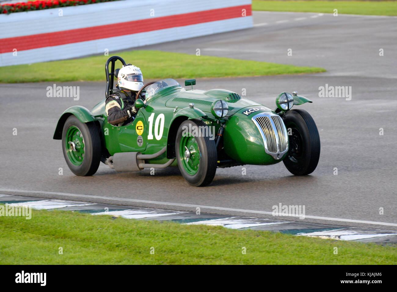 1953 Frazer Nash Le Mans von Patrick Blakeney-Edwards von Martin Hunt racing in der Freddie März Memorial Trophy Stockbild
