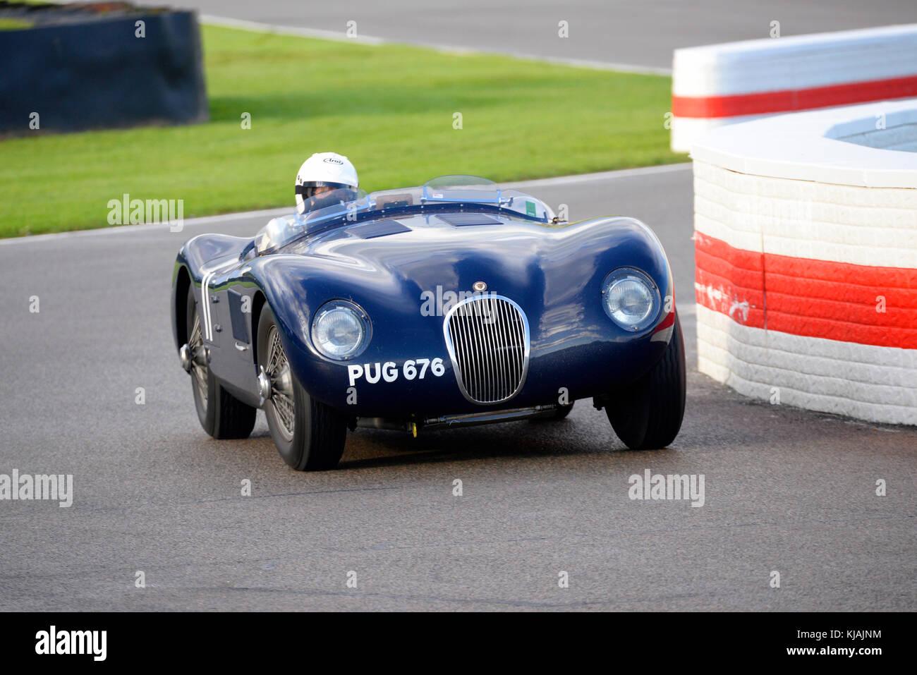1952 Jaguar Typ C im Besitz und unter der Leitung von Ben Cussons racing in der Freddie März Memorial Trophy Stockbild
