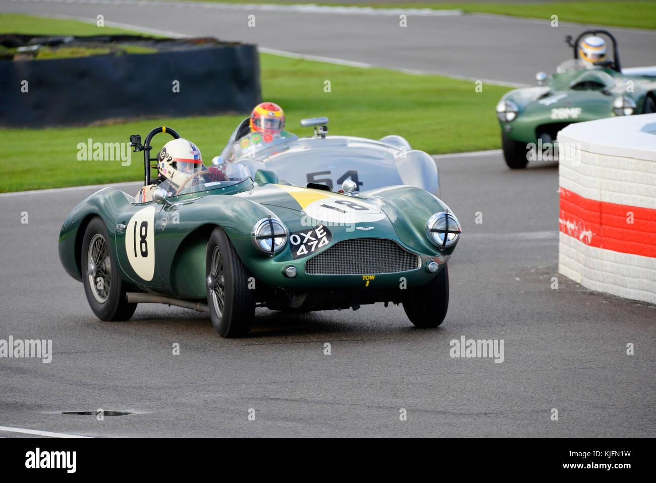 1955 Aston Martin DB 3 S im Besitz und unter der Leitung von Steve Boultbee Brooks racing in der Freddie März Stockbild