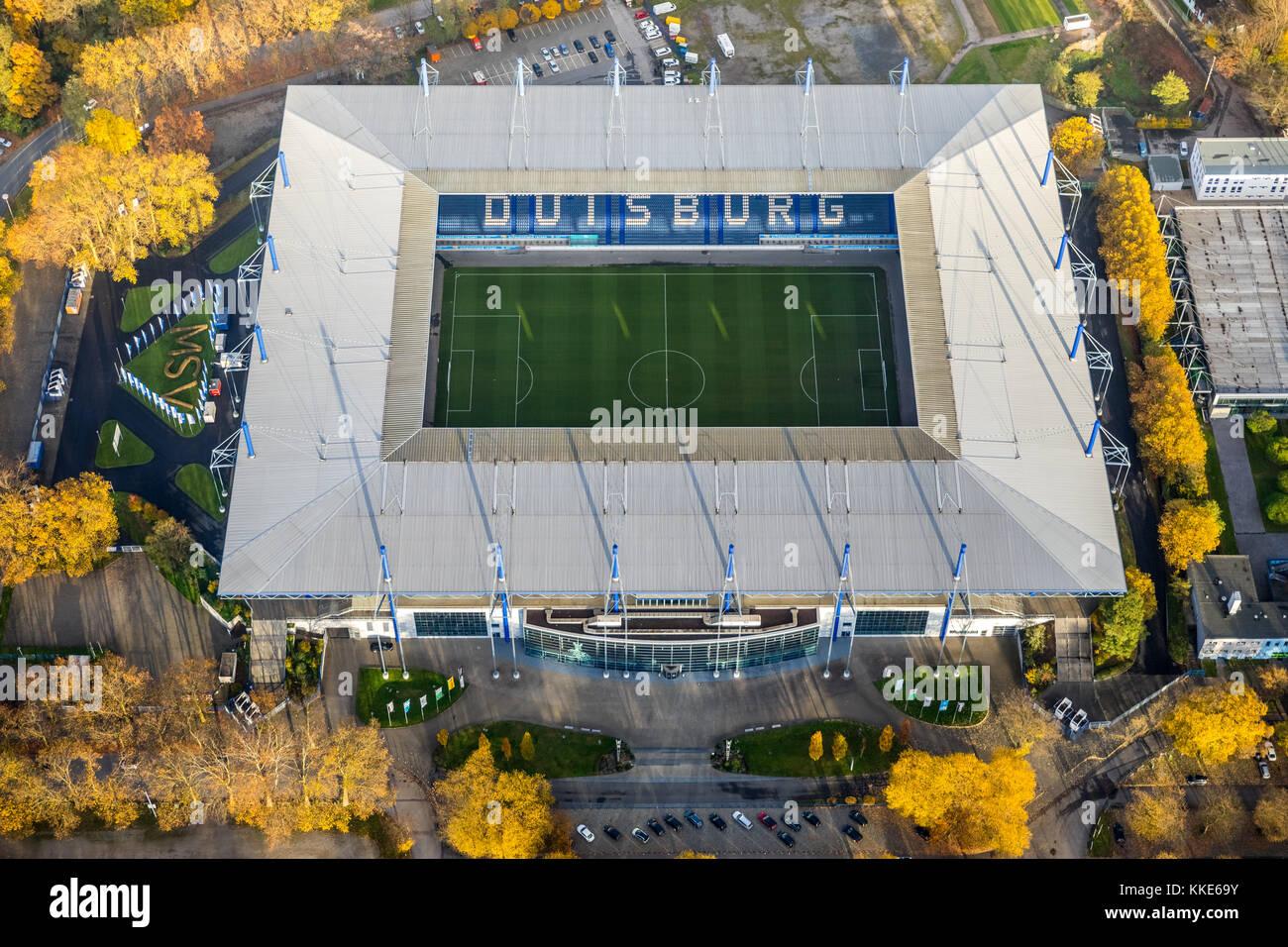 Schauinsland Reisen Arena, Wanheim, wedau Sportpark Wedau, an der Regattabahn Wedau, Duisburg, Ruhrgebiet, Nordrhein Stockbild