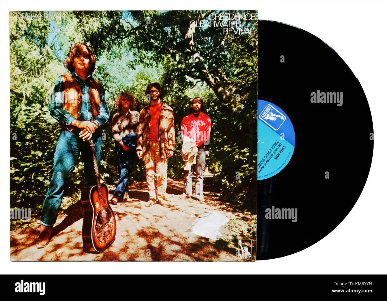 Creedence Clearwater Revival Green river Album Stockbild
