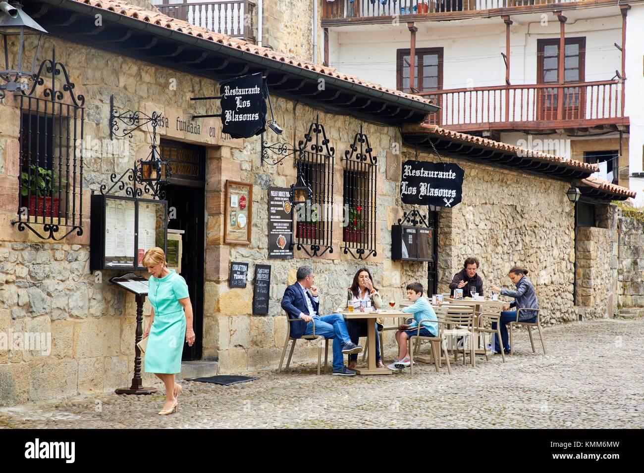 Santillana del Mar, Kantabrien, Spanien Stockbild