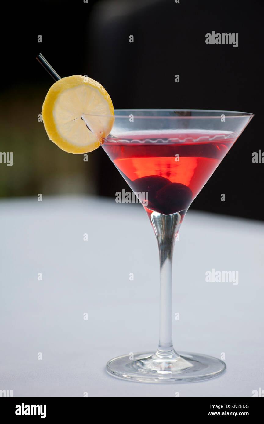 USA Virginia VA Williamsburg Winery Cafe provenzalischen Speisen elegant essen Cocktail trinken Stockbild